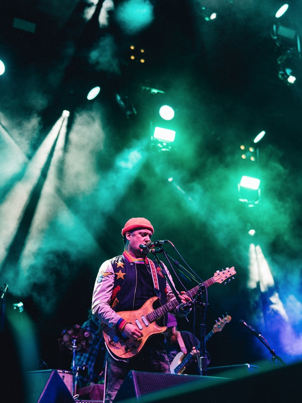 Modest Mouse performing at the Sasquatch! 2018 summer music festival